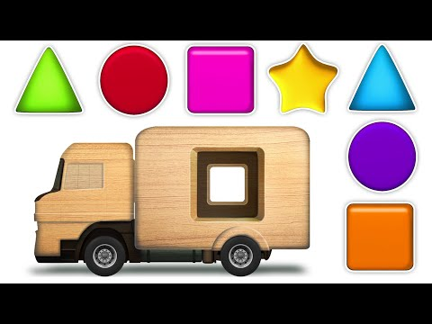 KidsCamp - Learn Shapes With Wooden Toy Truck   Shapes Videos Collection for Kids