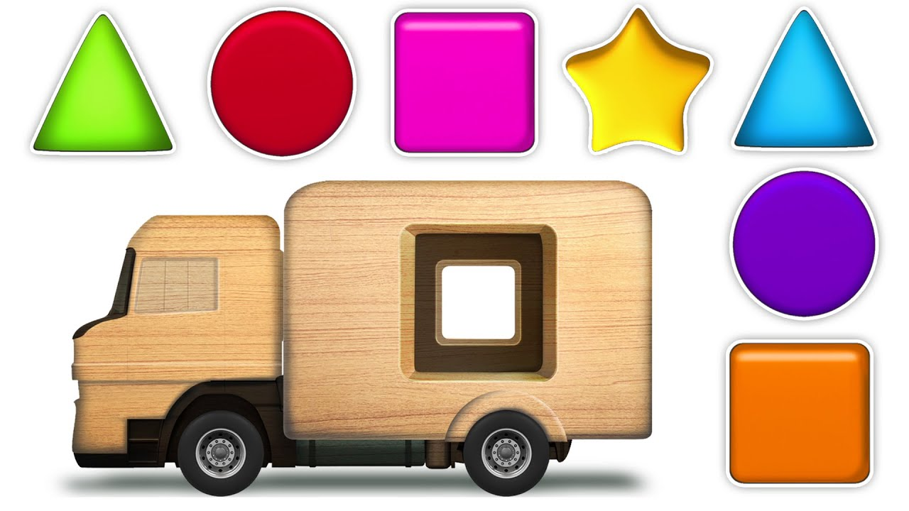 Download KidsCamp - Learn Shapes With Wooden Toy Truck | Shapes Videos Collection for Kids