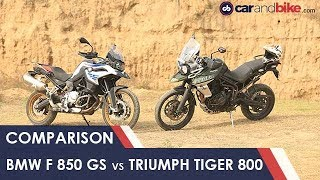 BMW F 850 GS vs Triumph Tiger 800 XCx Comparison Review | NDTV carandbike