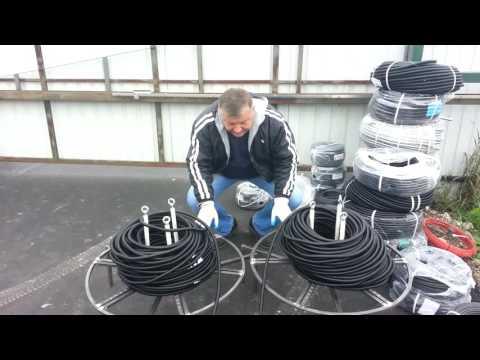 видео: Затяжка 100 м кабеля в гофру.