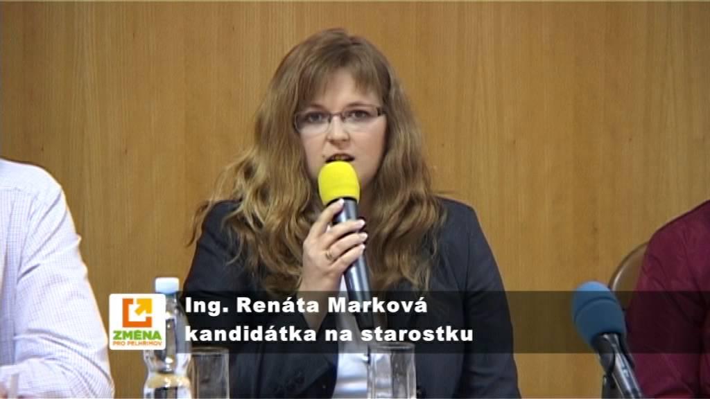 ZMĚNA PRO PELHŘIMOV: Představení Ing. Renáty Markové na debatě lídrů