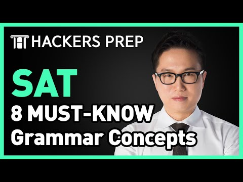 [SAT Writing] 8 MUST KNOW Grammar Concepts for Perfect Score