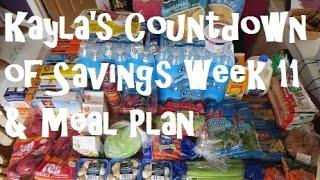 Kayla's Countdown Of Savings Week 11 & Meal Plan