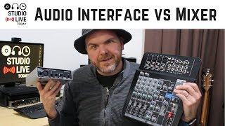What is the difference between a USB audio interface and a mixer?
