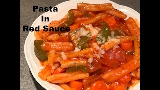 Indian Style Tomato Pasta | Pasta in Red Sauce | Red Sauce Pasta Recipe | Veg Pasta Indian Style