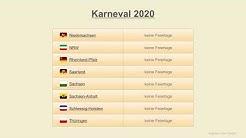 Karneval 2020 - Datum - Festtage Deutschland 2020