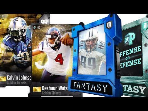 I PULLED GOLDEN TICKET Calvin Johnson!!! GT Deshaun Watson | Madden 18 Ultimate Pack Opening