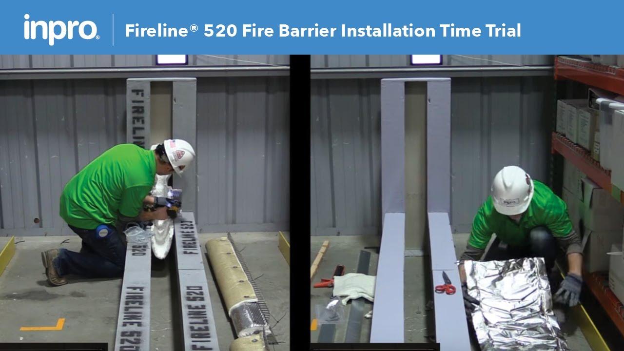 Fire Barrier Install : Fireline fire barrier installation time trial youtube