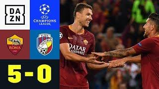 Schützenfest in Rom dank dreifachem Edin Dzeko: AS Rom - Viktoria Pilsen 5:0 | UEFA CL | DAZN
