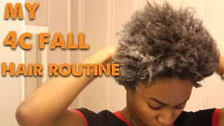 MY 4c Hair FALL moisturizing hair ROUTINE Thumbnail
