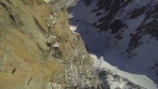 10006_#1 Valery Rozov Base Jump Wingsuit Dent du Géant Chamonix Mont-Blanc massif