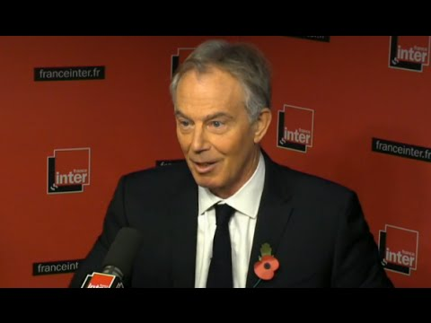 Tony Blair, French Radio, with English subtitles