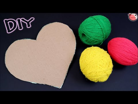 DIY... Wall Hanging Idea!!! How to Make Heart Shaped Wall Hanging for Home Decoration!!!