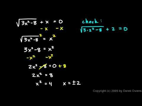 Algebra 1  11.10c - Examples of Solving Radical Equations