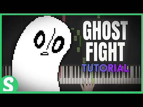 """How to play """"GHOST FIGHT"""" from Undertale  (Synthesia) [Piano Video Tutorial] [HD]"""