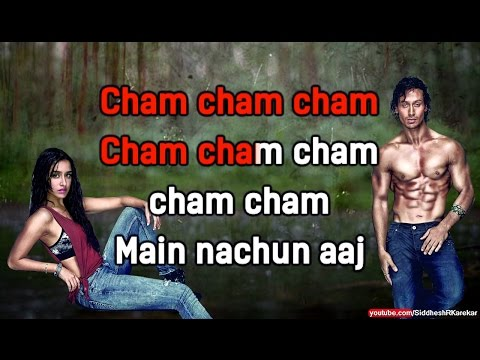 "Cham Cham (from ""Baaghi"") (Instrumental / Karaoke) {2016} with lyrics"