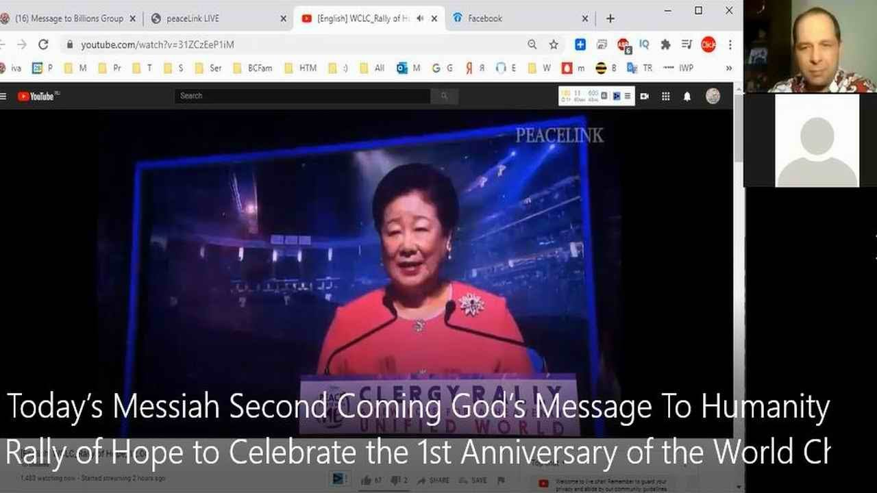 Today's Messiah Second Coming God's Message To Humanity Rally of Hope