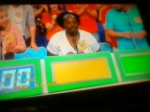 DOUBLE OVERBID ON THE PRICE IS RIGHT ONE...