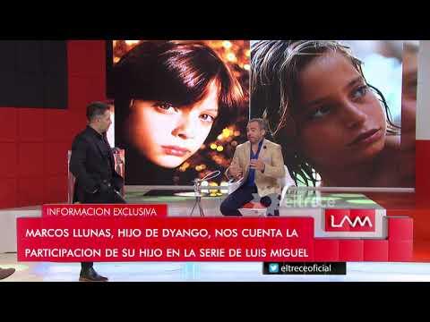 Marcos Llunas, el padre del chico que interpreta a Luis Miguel en su infancia