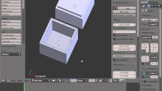 Blender for 3D Printing Hollow box with a hinge)  1 of 1