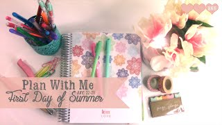 Plan With Me: First Day of Summer Inspired | Erin Condren Planner
