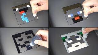 Minecraft Pancake art - NOOB vs PRO vs HACKER vs GOD / Gold Ice Cream Rolls