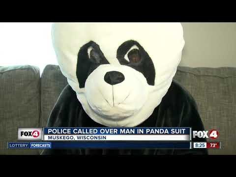 Scott Sands - VIDEO: Police Called Over Man in Panda Suit
