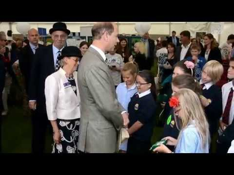 Prince Edward, Earl of Wessex on his walk around as show president at the Royal Norfolk Show.
