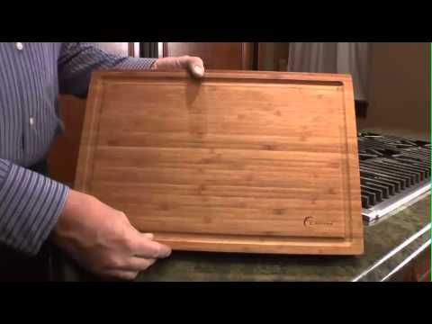 large bamboo cutting board earthchef by berghoff 3600251 2217610 youtube. Black Bedroom Furniture Sets. Home Design Ideas