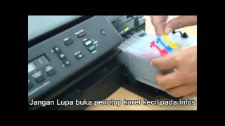 Cara Memasang Infus Printer Brother J100 High Yield   AMAZiNKPRINT.COM