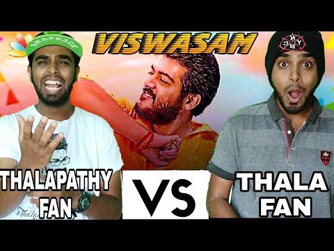 Thala And Thalapathy Fans Reaction To Thala58 Title 'Viswasam' -Diwali 2018 For Thala or Thalapathy?
