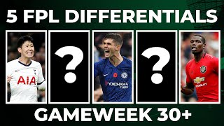 5 FPL DIFFERENTIALS TO CONSIDER FOR GAMEWEEK 30+