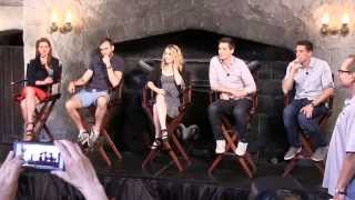 Diagon Alley discussion with Phelps twins, Evanna Lynch, Matthew Lewis and Bonnie Wright