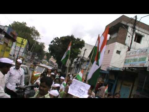 Anna hazare support in hyderabad by decent tuition centre