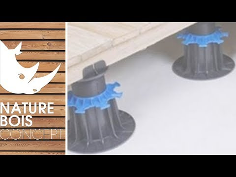 Plots pvc r glables pour terrasse bois et dalle youtube for Pose carrelage prix au m2 2013