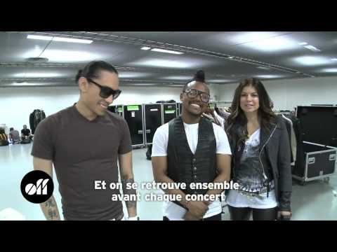 Backstage interview with Black Eyed Peas in Paris