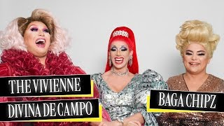 uK Drag Race queens The Vivienne, Divina de Campo and Baga Chipz argue over Cher and Dolly