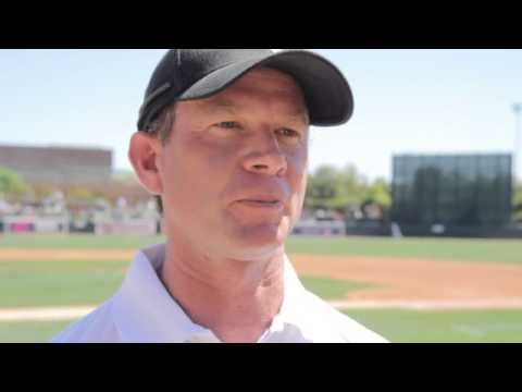 Gosbee Throws Out First Pitch at Camelback Ranch