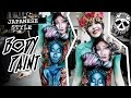 Japanese Style Body Painting w/ Airbrush - MissKateMonroe.co.uk