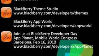 BlackBerry Theme Studio Developer FULL Webinar (Part Ten)