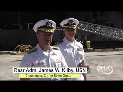 USS Carl Vinson Makes Port Stop at Naval Base Guam