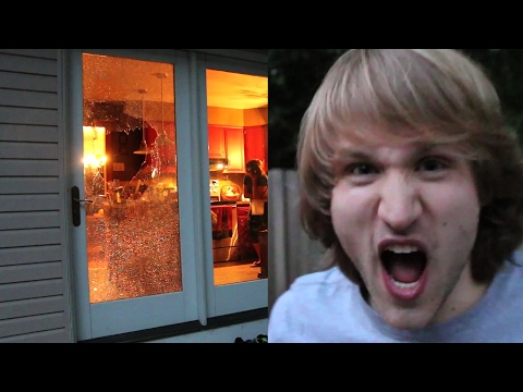BROKE MY PARENT'S BACK DOOR with A WII U!