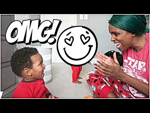 JAXSON SURPRISES MOMMY! 👶🏽👶🏾😍