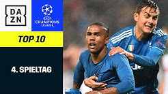 Top 10 Tore 4. Spieltag  | UEFA Champions League | DAZN Highlights