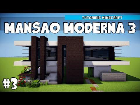 Minecraft como construir uma mans o moderna 3 parte 1 for Casa moderna 3 parte 2