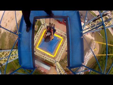 130 foot drop - Nothin' but net - Free fall - Zero Gravity - Dallas, Texas