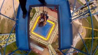 130 foot drop - Nothin' but net - Free fall - Zero Gravity - Dallas, Texas