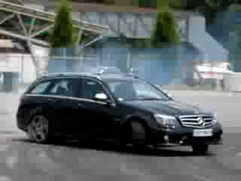 mercedes classe c 63 amg sw drifting youtube. Black Bedroom Furniture Sets. Home Design Ideas