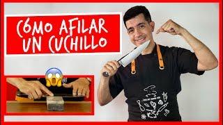 Cómo afilar tu cuchillo de cocina.