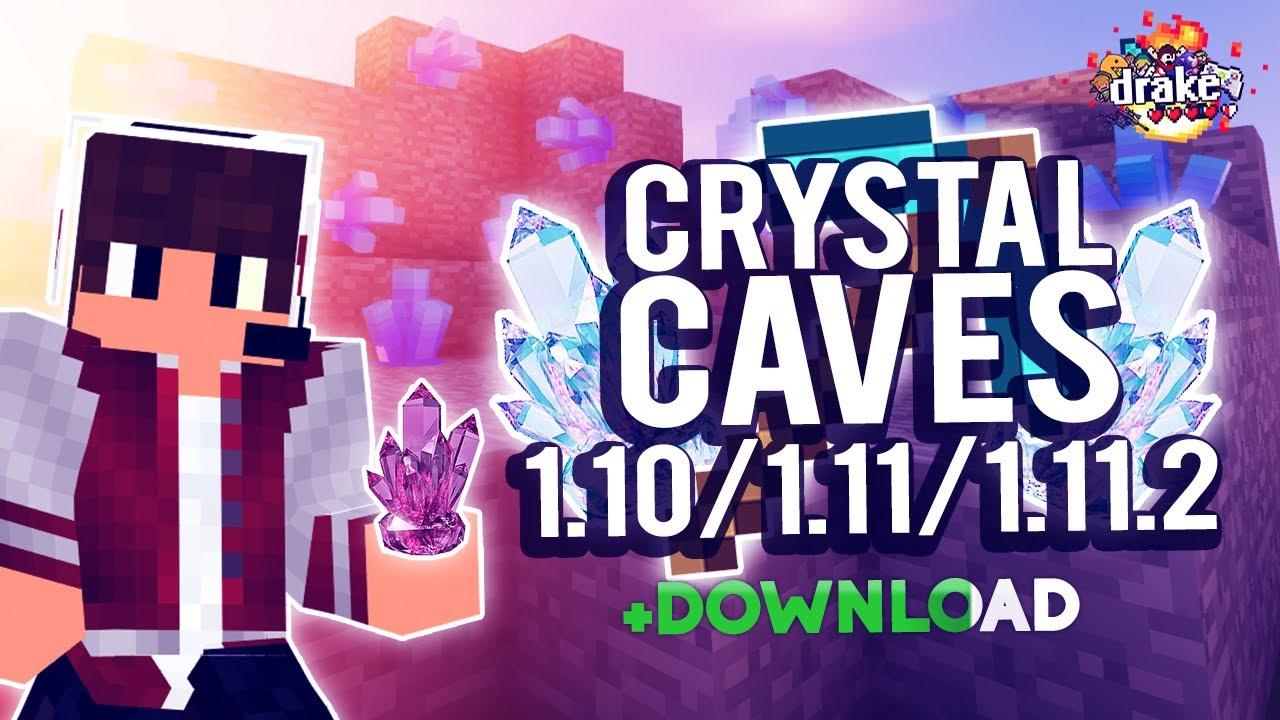 MINECRAFT MOD 1.10/1.11/1.11.2 | CRISTAIS! - CRYSTAL CAVES MOD [DOWNLOAD]